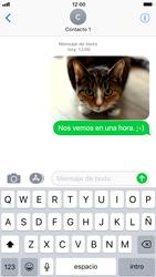 Apple iPhone 7 iOS 11 - Mensajería - Escribir y enviar un mensaje multimedia - Paso 16