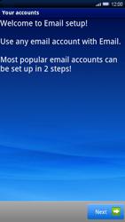 Sony Xperia X10 - E-mail - Manual configuration - Step 4