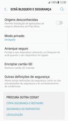 Samsung Galaxy S7 Edge - Android Nougat - Segurança - Como ativar o código PIN do cartão de telemóvel -  5