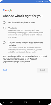 Samsung Galaxy S9 Plus - Applications - Create an account - Step 16