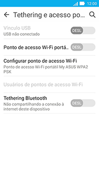 Asus Zenfone Go - Wi-Fi - Como usar seu aparelho como um roteador de rede wi-fi - Etapa 9