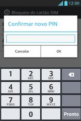 LG Optimus L5 - Segurança - Como trocar o código PIN do seu celular - Etapa 12