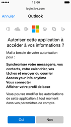 Apple iPhone SE - iOS 10 - E-mail - Configuration manuelle (outlook) - Étape 7