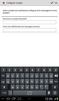 Samsung P3100 Galaxy Tab 2 7-0 - E-mail - Configuration manuelle - Étape 14