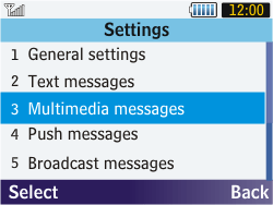 Samsung S3570 Chat 357 - MMS - Manual configuration - Step 16