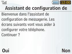 Samsung S3350 Chat 335 - E-mail - Configuration manuelle - Étape 10