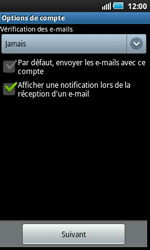 Samsung I5800 Galaxy Apollo - E-mail - Configuration manuelle - Étape 10