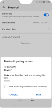 Huawei P20 Pro Android Pie - Bluetooth - Pair with another device - Step 7