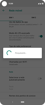Motorola One Vision - Rede móvel - Como selecionar o tipo de rede adequada - Etapa 10