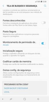 Samsung Galaxy Note 8 - Segurança - Como ativar o código PIN do cartão de telemóvel -  5