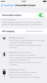 Apple iphone 6s plus met ios 10 mode a1687 - WiFi - Mobiele hotspot instellen - Stap 8
