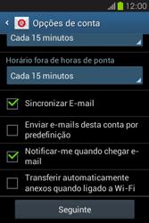 Samsung Galaxy Fame - Email - Adicionar conta de email -  8