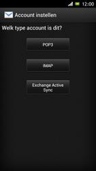 Sony ST26i Xperia J - E-mail - e-mail instellen: POP3 - Stap 6