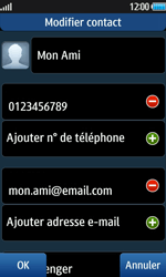 Samsung Wave 2 - Contact, Appels, SMS/MMS - Ajouter un contact - Étape 12
