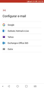 LG K12+ - Email - Como configurar seu celular para receber e enviar e-mails - Etapa 7