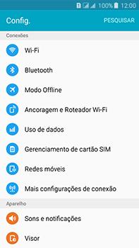 Samsung Galaxy J7 - Rede móvel - Como ativar e desativar o modo avião no seu aparelho - Etapa 4