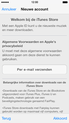 Apple iPhone 5 met iOS 7 - Applicaties - Account aanmaken - Stap 9