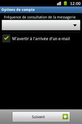 Samsung S6500D Galaxy Mini 2 - E-mail - Configuration manuelle - Étape 13