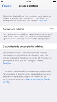 Apple iPhone 6s Plus - iOS 11 - Bateria - Desactivar a gestão de desempenho -  8
