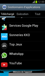 Samsung Galaxy Trend - Applications - Supprimer une application - Étape 5