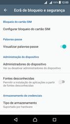 Sony Xperia X Dual SIM (F5122) - Segurança - Como ativar o código PIN do cartão de telemóvel -  5