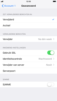 Apple iPhone 6 Plus - iOS 12 - E-mail - Account instellen (POP3 met SMTP-verificatie) - Stap 22