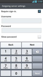 LG D505 Optimus F6 - E-mail - Manual configuration - Step 12