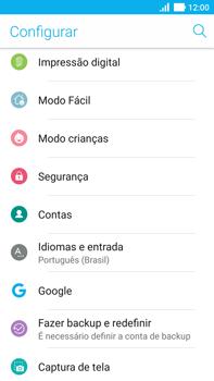 Asus Zenfone 3 - Funções básicas - Como restaurar as configurações originais do seu aparelho - Etapa 6