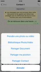 Apple iPhone 6 iOS 9 - WhatsApp - Partager des photos et votre emplacement avec WhatsApp - Étape 17