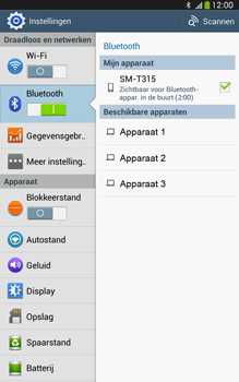 Samsung T315 Galaxy Tab 3 8-0 LTE - Bluetooth - Aanzetten - Stap 6