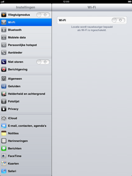 Apple iPad mini - Wifi - handmatig instellen - Stap 4
