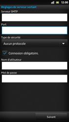 Sony LT22i Xperia P - E-mail - Configurer l
