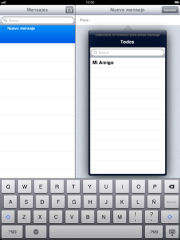 Apple iPad 2 - Mensajería - Escribir y enviar un mensaje multimedia - Paso 5