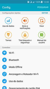 Samsung Galaxy J7 - Wi-Fi - Como configurar uma rede wi fi - Etapa 4