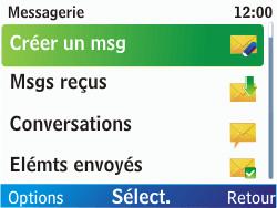 Nokia C3-00 - MMS - envoi d'images - Étape 3