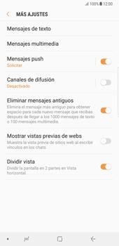 Samsung Galaxy Note 8 - Mensajería - Configurar el equipo para mensajes de texto - Paso 7