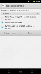 Sony LT30p Xperia T - E-mail - Configuration manuelle - Étape 13