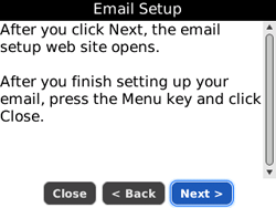 BlackBerry 8520 Curve - E-mail - Manual configuration - Step 7