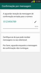 Samsung Galaxy S3 - Aplicações - Como configurar o WhatsApp -  8