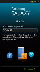Samsung Galaxy S4 Mini - Primeros pasos - Activar el equipo - Paso 14