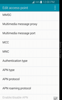Samsung N915FY Galaxy Note Edge - Internet - Manual configuration - Step 12