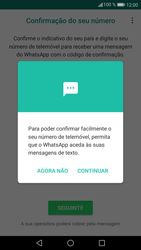 Huawei P9 Lite - Android Nougat - Aplicações - Como configurar o WhatsApp -  11