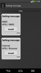 LG D955 G Flex - Settings - Configuration message received - Step 5