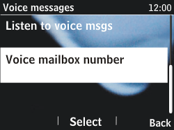 Nokia Asha 201 - Voicemail - Manual configuration - Step 6