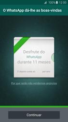 Samsung Galaxy S6 - Aplicações - Como configurar o WhatsApp -  14
