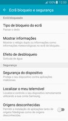 Samsung Galaxy J5 - Segurança - Como ativar o código de bloqueio do ecrã -  5