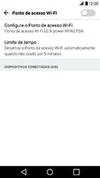 LG X Power - Wi-Fi - Como usar seu aparelho como um roteador de rede wi-fi - Etapa 8