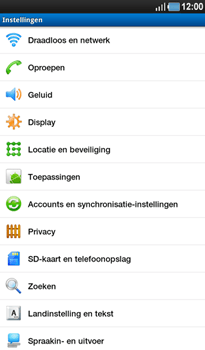 Samsung P1000 Galaxy Tab - Voicemail - Handmatig instellen - Stap 4