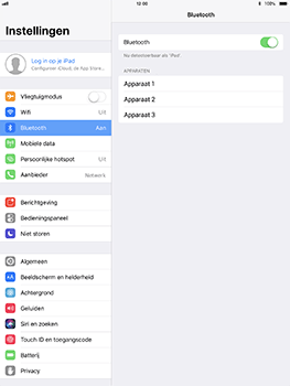 Apple iPad Pro 10.5 inch met iOS 11 (Model A1709) - Bluetooth - Headset, carkit verbinding - Stap 5