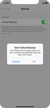 Apple iPhone XS - Data - Create a backup with your account - Step 11